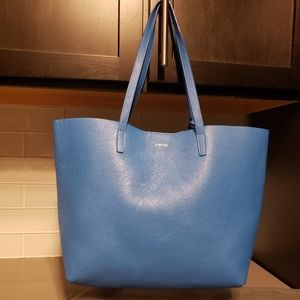 Leather Tote by Pietro NYC